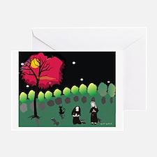 Moonlight Prayers in Garden Etsy Greeting Card