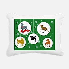 Holidays Card 2011 6x4 o Rectangular Canvas Pillow