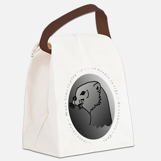 otter  10 x 10 Canvas Lunch Bag