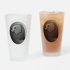 otter  10 x 10 Drinking Glass