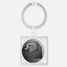 otter  10 x 10 Square Keychain