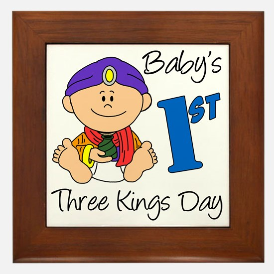 babys first three kings day Framed Tile
