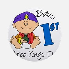 babys first three kings day Round Ornament