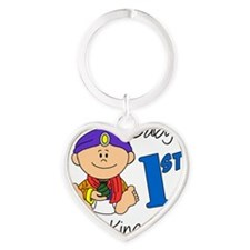 babys first three kings day Heart Keychain