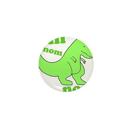 dinosaur-green-om-nom Mini Button