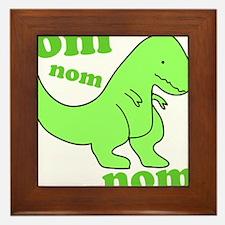 dinosaur-green-om-nom Framed Tile