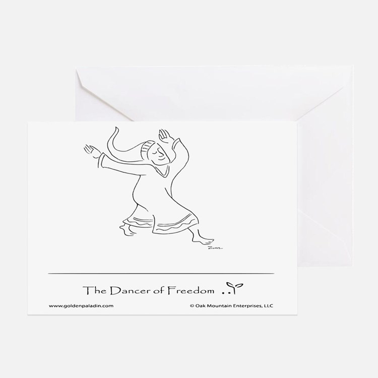 The Dancer of Freedom Greeting Card