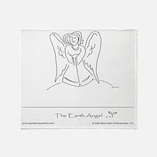 The Earth Angel Throw Blanket