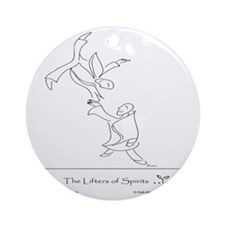 The Lifters of Spirits Round Ornament