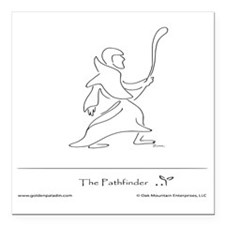 "The Pathfinder Square Car Magnet 3"" x 3"""