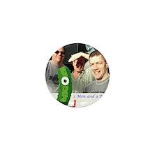 3 Men and a Pickle.gif Mini Button