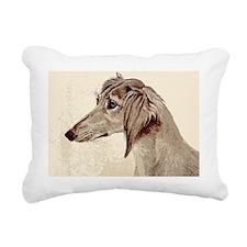 SalukiHead14x10_print Rectangular Canvas Pillow