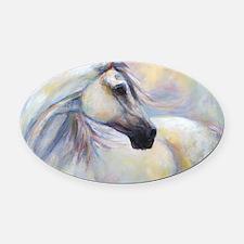 Heavenly Horse art by Janet Ferrar Oval Car Magnet
