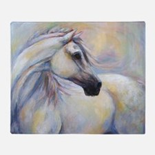 Heavenly Horse art by Janet Ferraro. Throw Blanket