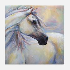 Heavenly Horse art by Janet Ferraro. Tile Coaster