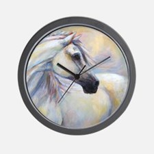 Heavenly Horse art by Janet Ferraro. Co Wall Clock