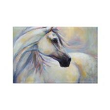 Heavenly Horse art by Janet Ferra Rectangle Magnet