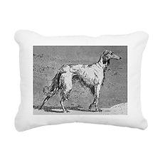 SalukiStack Rectangular Canvas Pillow