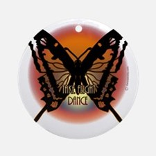 Dancers Butterfly by Danceshirts.co Round Ornament