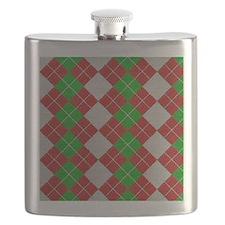 Argyle_Tiled_2_flipflop Flask