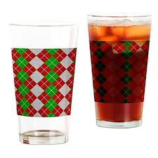 Argyle_Tiled_2_flipflop Drinking Glass