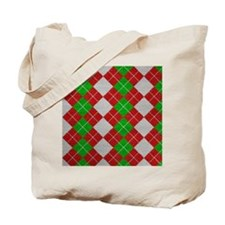 Argyle_Tiled_2_flipflop Tote Bag