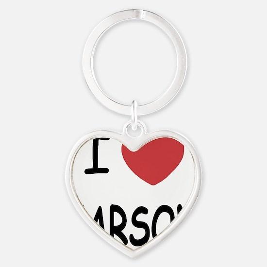 CARSON Heart Keychain