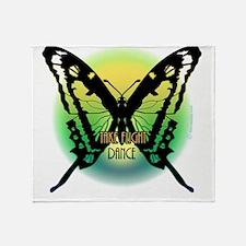 Dancers Butterfly by Danceshirts.com Throw Blanket