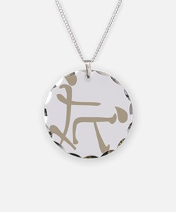 chinese doggy style Necklace Circle Charm