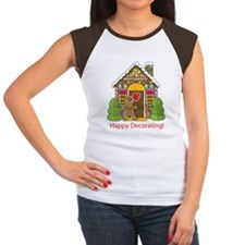 gingerbread_house big Women's Cap Sleeve T-Shirt