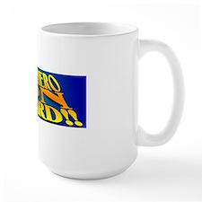 bumpersticker superhero on board Mug