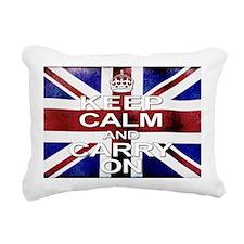 Distressed Keep Calm  Ca Rectangular Canvas Pillow