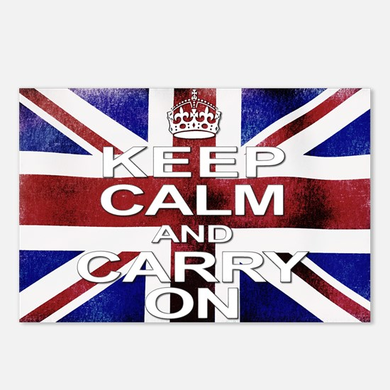Distressed Keep Calm  Car Postcards (Package of 8)