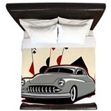 Hot rod vintage King Duvet Covers