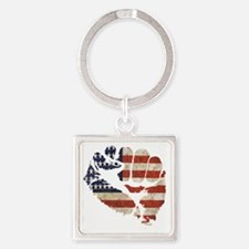 flagfist1 Square Keychain