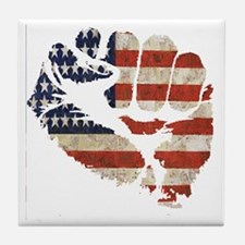flagfist1 Tile Coaster