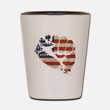 flagfist1 Shot Glass