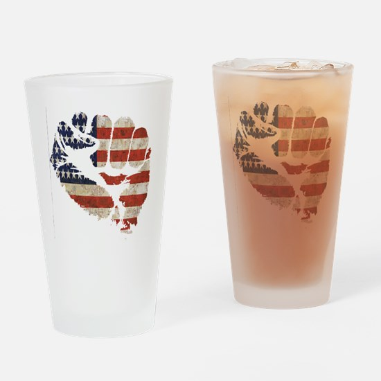 flagfist1 Drinking Glass