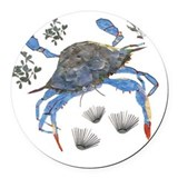 Blue crab Round Car Magnets