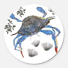 crab Round Car Magnet
