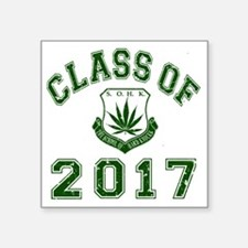 "CO2017 SOHK Weed Green Dist Square Sticker 3"" x 3"""