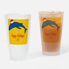 WhaleXmas Drinking Glass