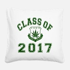 CO2017 SOHK Weed Green Distre Square Canvas Pillow