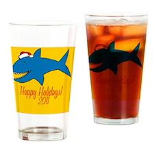 SharkXmas Drinking Glass