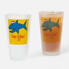 SharkXmas Drinking Glass
