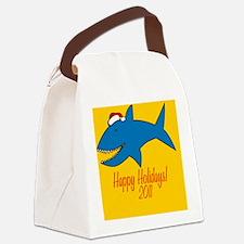 SharkXmas Canvas Lunch Bag