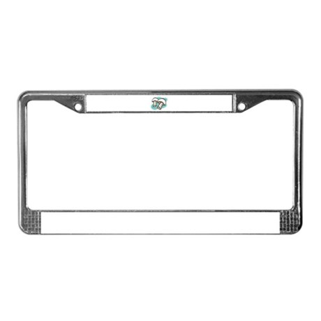 Mushrooms License Plate Frame