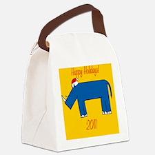 RhinoXmas Canvas Lunch Bag