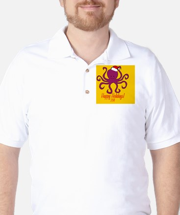 OctopusXmas Golf Shirt