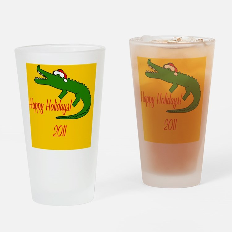 AlligatorXmas Drinking Glass